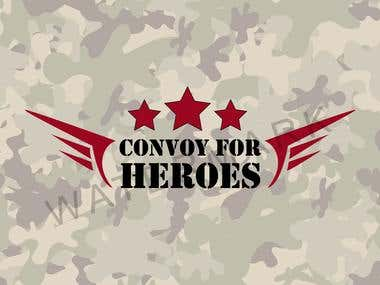 LOGO CONVOY FOR HEROES ..WITH DIFFERENT CONCEPT