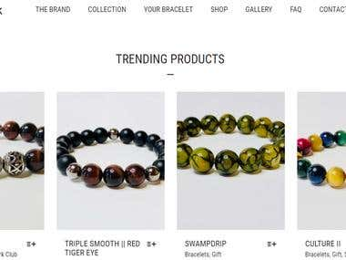 Bracelets woocommerce website