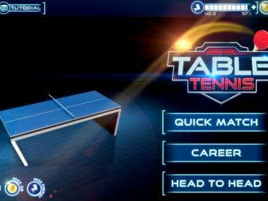 Table Tennis 3D Game Development