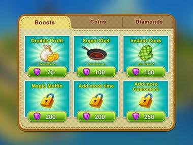 UI Design of Cooking Star Game