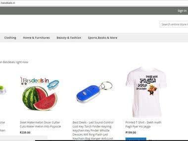 E-Commerce Website Besdeals.in