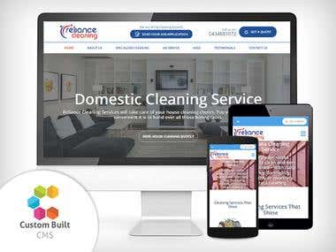 Home & Commercial Cleaning Company Website