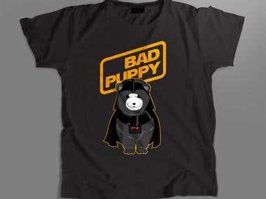 Bad puppies. T-shirts design