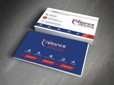 Business Cards - Reliance Cleaning Services