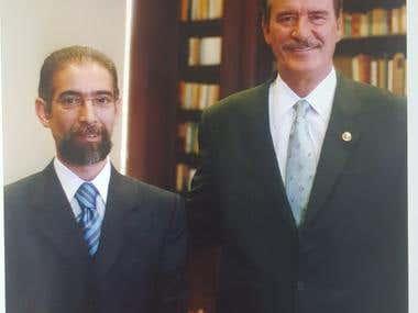 Foto con el Presidente mexicano, Excmo. Sr. Vicente Fox