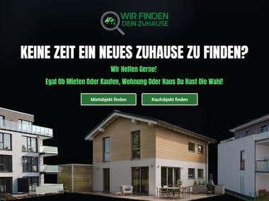 Slider Revolution banner for Real Estate