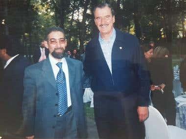 Foto con el presidente mexicano Vicente Fox en Los Pinos