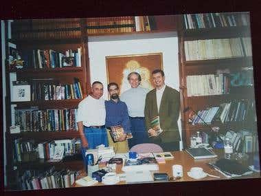 Foto con en el escritor mexicano Alberto Ruiz Sánchez