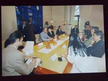 Entrevista ministros de cultura de Marruecos y México