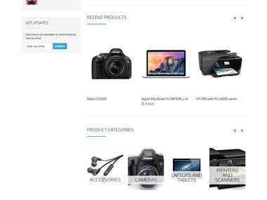 Wordpress Woocommerce Based Website