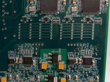 PCB with Custom Analog, Dual MCUs and LED Display