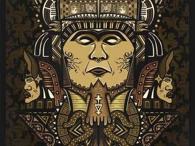 Aztec Lord illustration/vector