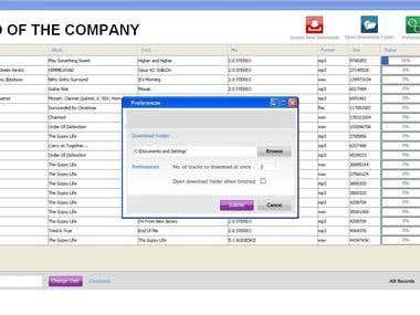 Download application using swing framework