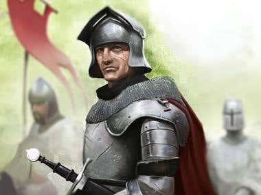 The English Knight Illustration
