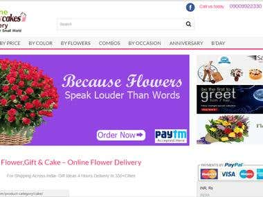 Online Flowers Cakes delivery website