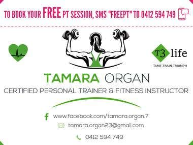 FLYERS AND BUSINESS CARD FOR A PERSONAL TRAINER