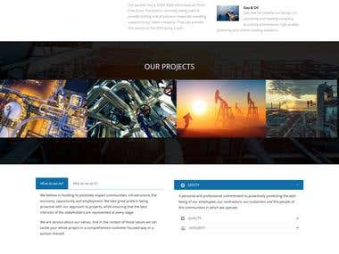 Build website for Oil Industry