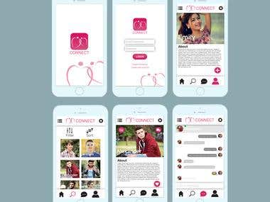 Connect Dating Mobile App Design