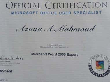 International Certificate From Microsoft