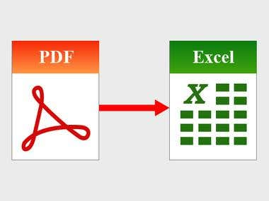 pdf to excel entry