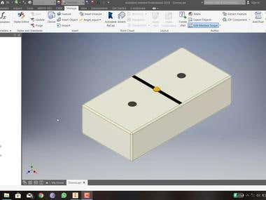 Dominoes Design in Autodesk Inventor using iPart command