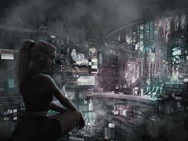Photoshop Design: Black Cat