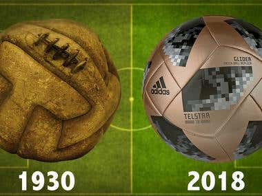 Photoshop Cover Picture Design: Soccer Ball