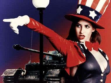 Photoshop Design: AMERICA!