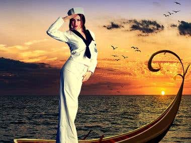 Photoshop Design: Happy Sailor