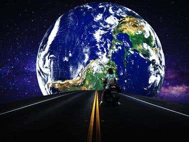 Photoshop Cover Picture Design: Entering the world