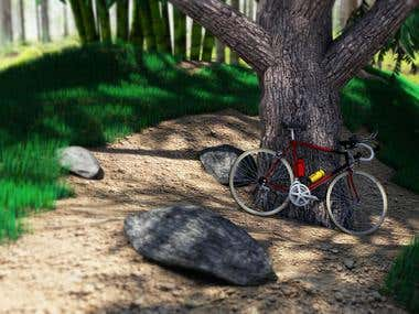 3D Forest modeling and rendering
