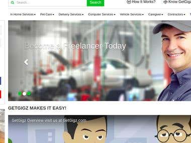 Marketplace Website for HomeServices : Getgigzs