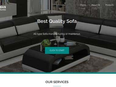 Wordpress Website for Furniture Mart