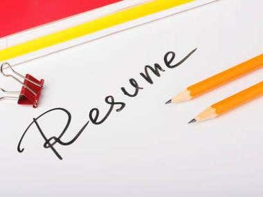 Samples of Resume Writing