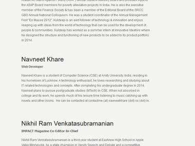 Web Developer for Harvard US India Initiative Website