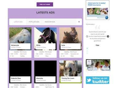 EQUINE SHARERS CLASSIFIED SITE