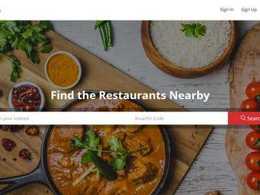 Food ordering and restaurant listing marketplace