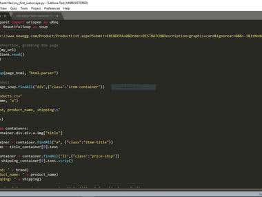 web scraping using python bs4