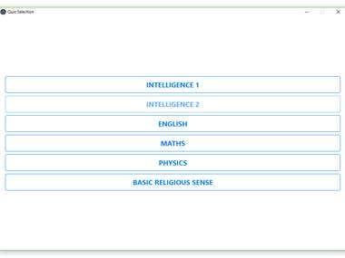 Desktop App for Quizzes