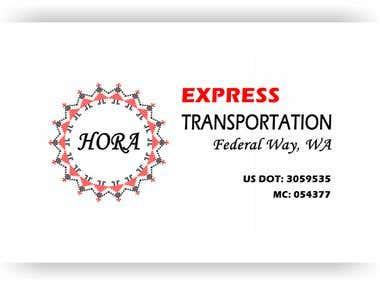"Logo for ""HORA Express Transportation"""