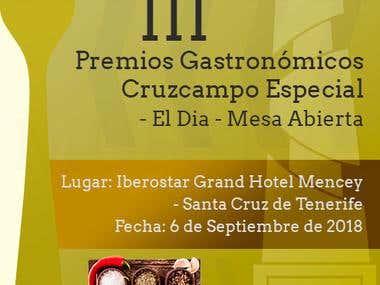 Poster para Premios Gastronomicos