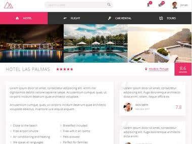 Hotel website in Desktop, tablet and mobile view