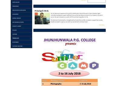 Jhunjhunwala PG College Hansapur Dwarika Puri Faizabad