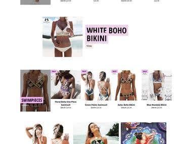 Ecommerce store i created using shopify