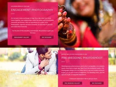 WordPress Website - ADS Photography, Ranchi