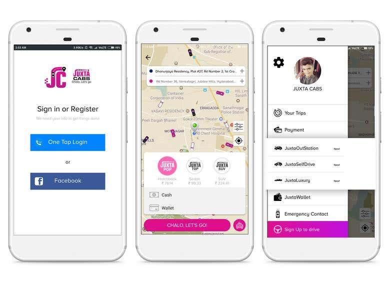 Juxtacabs (Uber clone) | Freelancer