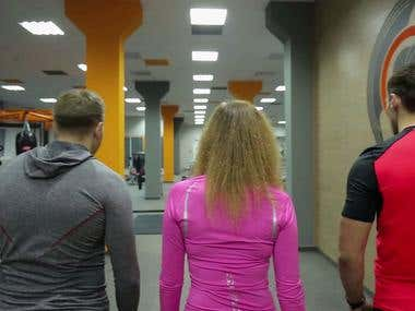 Fitness Centre commercial. Video montage and title making.