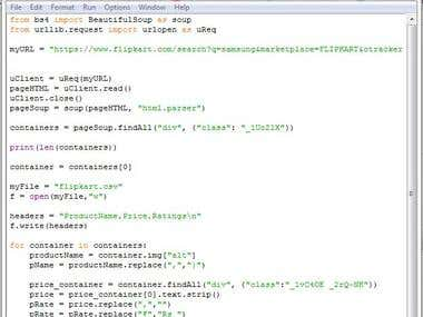 Web scrapping using Python and Beautiful Soup
