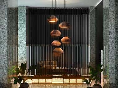 Architecture rendering interior design