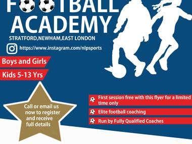 Flyer Design For Sport Academy